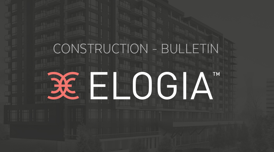 ELOGIA's construction is progressing at a good pace !