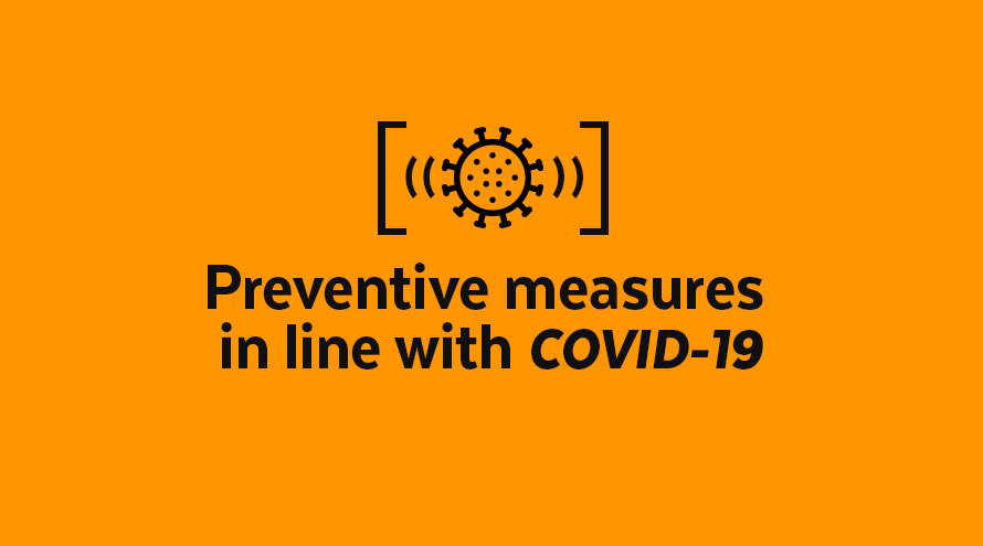 Preventive measures in line with COVID-19