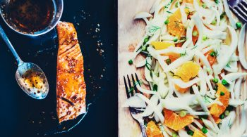 post-thumbnail - Maple-glazed salmon filet with citrus fennel salad